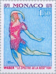 Issued in 1979, Monaco - 'Les Spectre de la Rose' by Carl Maria von Weber