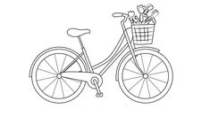 Easy bicycle Drawing Tutorial for girls Ladies Bicycle, Bicycle Women, Bicycle String Art, Bicycle Art, String Art Tutorials, String Art Patterns, Outline Drawings, Easy Drawings, Bicycle Drawing