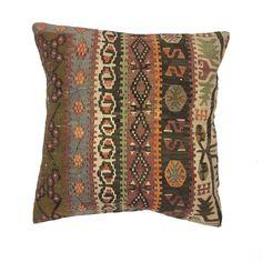 Luxury Wool Turkish Moroccan Colourful Kilim Cushion Covers 60x60cm 66126