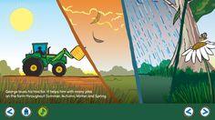 Seasons on the George the Farmer App. Download now on iTunes.  #farm #farming #kids #kidsapp #kidsfarm #aussiefarm #aussie #australia