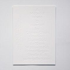 Blind deboss #letterpress