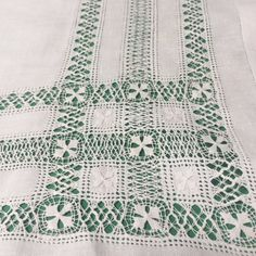 Your place to buy and sell all things handmade Picnic Tablecloth, Linen Tablecloth, Drawn Thread, Thread Work, Vintage Picnic, Hand Embroidery, Embroidery Ideas, Vintage Tablecloths, Needlework