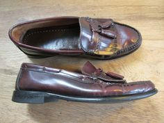 65a31cabc21 Bass Weejuns Classic Cordovan Leather Kiltie Tassel Loafers Mens (9 1 2) 9.5