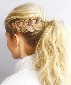 Glitter Hair: Bedazzled Braid