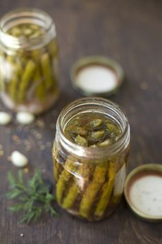 Sweet and spicy pickled asparagus #recipe
