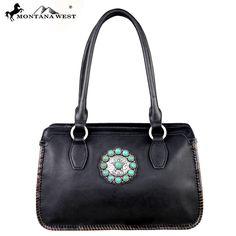 Montana West LEA-6001 Trinity Ranch Full Genuine Leather Handbag