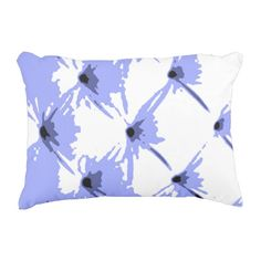 Star Bright Blue Accent Pillow by Janz