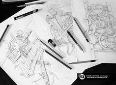 Sketch Collection by Marcelo Shultz | Abduzeedo Design Inspiration