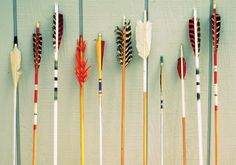 "Arrows by Bree Walk. ""These are my grandmother's vintage arrows.  She was a champion winning archer in the 1940s."""
