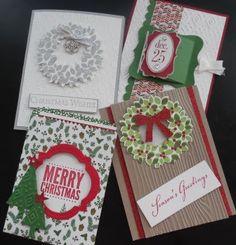 PENNY TOKENS STAMPIN SPOT: Christmas in July Card Classes http://pennytokensstampinspot.blogspot.ca/2015/08/christmas-in-july-card-classes.html