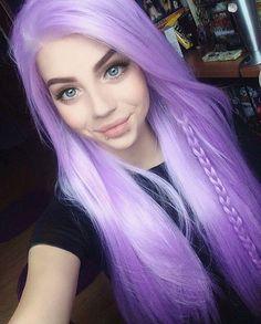 Purple Wig Blonde Hair With Purple Underneath Grey Hair Highlights – porjack Beautiful Hair Color, Cool Hair Color, Pretty Hairstyles, Wig Hairstyles, Pelo Emo, Gray Hair Highlights, Synthetic Lace Wigs, Lavender Hair, Coloured Hair