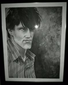 Watercolor painting of Stephen Morris from Joy Division