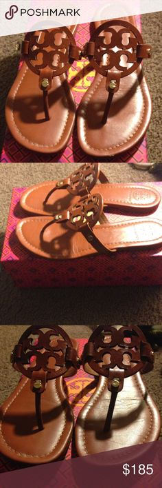 Tory Burch Vintage Vachetta Miller Sandals Worn only a few occasions, in great condition. Kept in box for good up keeping. Shoes Sandals