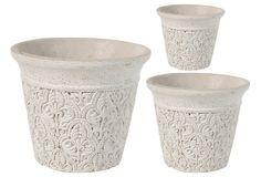 Imagine elegant orchids in these little pots!