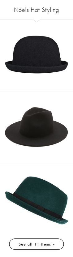 """Noels Hat Styling"" by teresalcaine ❤ liked on Polyvore featuring men's fashion, men's accessories, men's hats, hats, mens wool hat, kangol mens hats, black, mens fedora hats, green and sale"