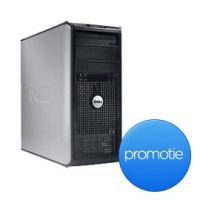 Calculatorul Dell 755 Optiplex Tower, ultra rapid si puternic, face parte din ultima generatie de calculatoare din seria Optiplex. Acest model este alimentat de un procesor Intel Core 2 Quad Q6600 2.4 GHz, memorie de inalta performanta de 4GB DDR2, hard disk S-ATA de 250GB si placa video cu raspuns ultra-rapid.