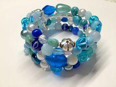 Turkose memory wire bracelet