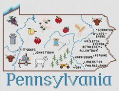 Pennsylvania by Sue Hillis Designs