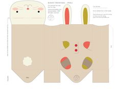 Lembrança para a Páscoa - Envelope de coelhos - Dicas pra Mamãe