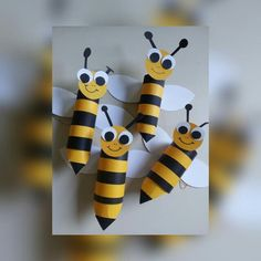 Пчелки из бумаги