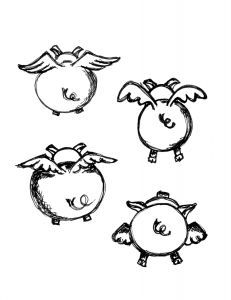 flying pigs drawing - Google Search