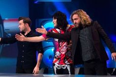 Noel Fielding Bowie shirt and skeleton trousers #nmtb