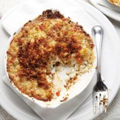 This spicy crab casserole is a specialty of Sting-Ray's in Cape Charles, Virginia. Great baked  until lightly browned and bubbling in the center and served hot with toast on the side. A winner in our house.