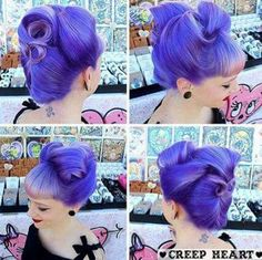Purple pin up hair
