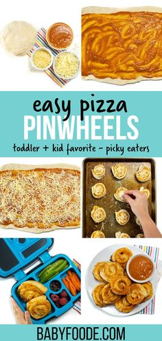 Healthy Store Bought Snacks, Spinach Basil Pesto, Pizza Pinwheels, Finger Fun, Easy Lunch Boxes, Toddler Lunches, Hidden Veggies, On The Go Snacks, Love Pizza