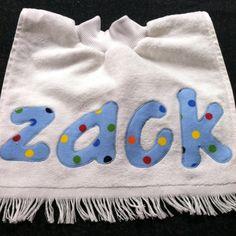 Fingertip towel bib by Ruthiebelle Crafts