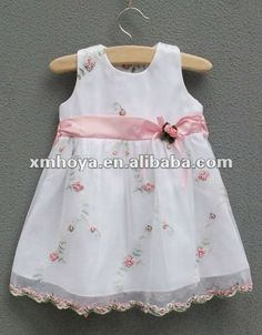 bebé flor vestido de niña de bautizo-Vestido de niña ...