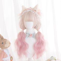 Kawaii Hairstyles, Pretty Hairstyles, Wig Hairstyles, Casual Hairstyles, Medium Hairstyles, Latest Hairstyles, Anime Wigs, Anime Hair, Kawaii Wigs
