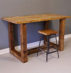 Reclaimed Wood Bar Table / High Table with FREE SHIPPING. Made from Salvaged Barn Wood