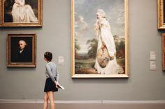 art galleries | travel | art | look | sightsee | girl | Europe | pixie cut brunette