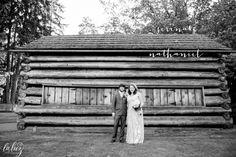 Log cabin wedding photo – Seattle Wedding Photography