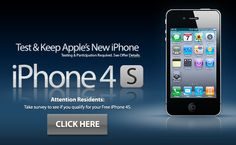 Test and KEEP Apple's new iPhone 4s For Free