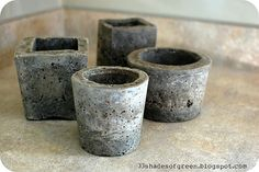 This tutorial shows you how to make #QUIKRETE #concrete planters.  Click the pin for step-by-step directions.