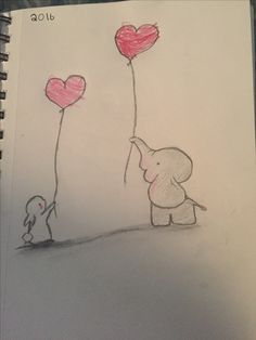 My art. Made with pencil and colored pencil (my little sister colored in the balloons)