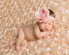 Baby ANNA BELLE Pink Blush  Headband /Handmade Headband  by #BabyKDesigns, Photographed by Amy Robertson Photography $14.95