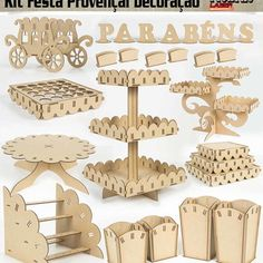 Cardboard Crafts, Wood Crafts, Diy And Crafts, Paper Crafts, 3d Laser, Laser Cut Wood, Laser Cutting, Sweet Table Decorations, Candy Stand