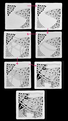 connecting various sections - Open Seed Arts: July 2011 #tanglepattern #zentangle