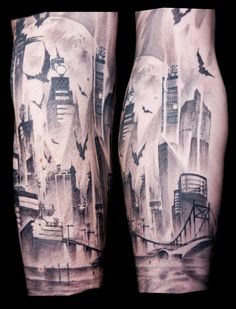Gotham City Tattoo. I would totally get this.