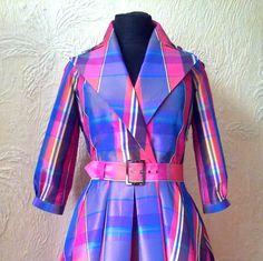 Cute checkered dress Exclusive bright dress Design by DressNateMa