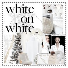"""""""How to wear White on White"""" by cindy88 ❤ liked on Polyvore featuring BCBGMAXAZRIA, River Island, Uniqlo, MICHAEL Michael Kors, Sole Society, Woolrich, Nathaniel Cole, Peugeot, WhiteOnWhite and winterwhite"""