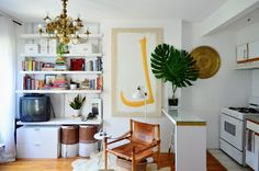An Eclectic Modern Mini 288 Square Foot Brooklyn Studio — Video House Tour