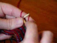 continental knitting - my way - YouTube