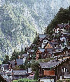 Hallstatt, Austria Cute Little Houses, Austria, Cabin, Mountains, House Styles, City, Travel, Instagram, Viajes