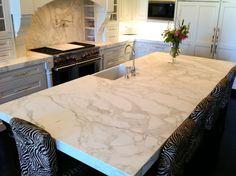 The Granite Gurus: Honed Calacatta Gold Kitchen