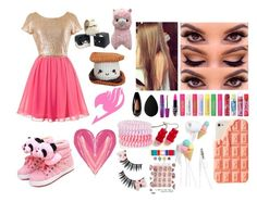 """Kawaii~Sweets~Girl!"" by lilli-girl123 ❤ liked on Polyvore featuring Forever 21, Maybelline, beautyblender, Temptu, MAC Cosmetics, Accessorize, sweets, Pink and kawaii"
