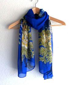 Scarf spring summer scarf ShawlFloral scarf fashion by ArtTaj, $12.80